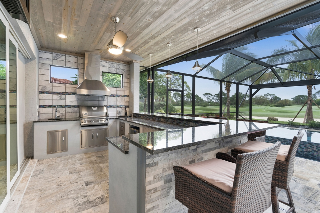 Custom Home with Outdoor Kitchen
